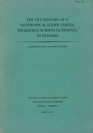 The life history of a neotrpocial Slider Turtle Pseudemys scripta (Schoepff), in Panama. Edward...