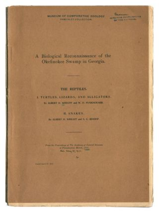 A biological reconnaissance of the Okefinokee Swamp in Georgia; reptiles. Albert H. Wright, W. D....