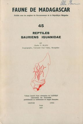 Reptiles, Sauriens, Iguanidae. Charles P. Blanc