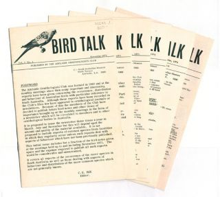 Bird talk, volumes one to six. C. E. Rix