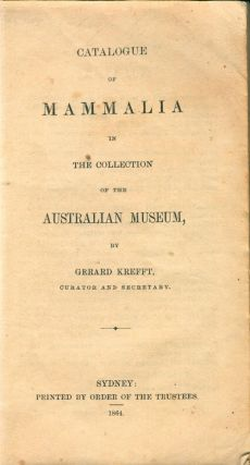 Catalogue of mammalia in the collection of the Australian Museum.