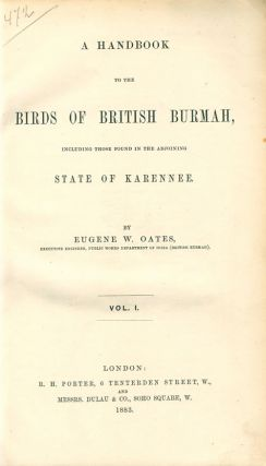 A handbook to the birds of British Burma, including those found in the adjoining sate of Karenne.