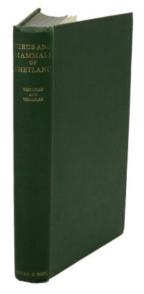 Birds and mammals of Shetland. L. S. V. Venables, E. M. Venables