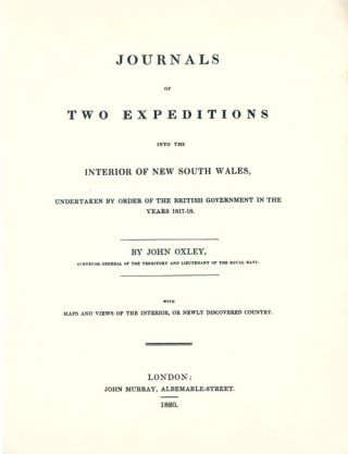 Journals of two expeditions into the interior of New South Wales.