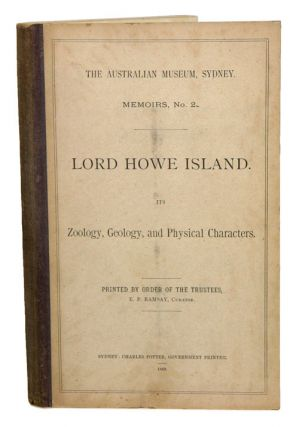 Lord Howe Island. Its zoology, geology and physical characters