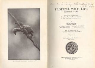 Tropical wild life in British Guiana: Zoological contributions from The Tropical Research Station of the New York Zoological Society, volume one [all published].
