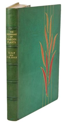 The dictionary of garden plants in colour, with house and greenhouse plants. Roy Hay, Patrick M....