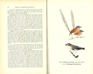 Birds of Western Australia (with the exception of the Kimberley Division).