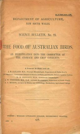 The food of Australian birds: an investigation into the character of the stomach and crop...