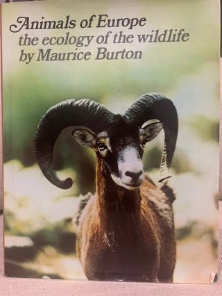 Animals of Europe: the ecology of the wildlife. Maurice Burton