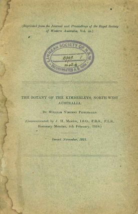 The botany of the Kimberleys, north-west Australia. J. H. Maiden