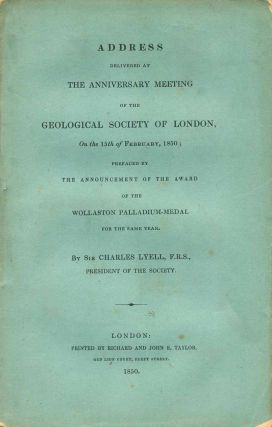 Address delivered at the Anniversary meeting of the Geological Society of London, on the 21st of...