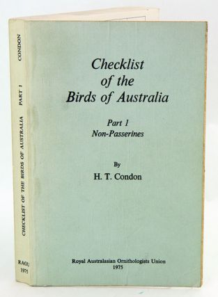 Checklist of the birds of Australia, part one: Non-Passerines. H. T. Condon