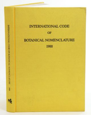 International Code of Botanical Nomenclature. Adopted by the Fourteenth International Botanical...
