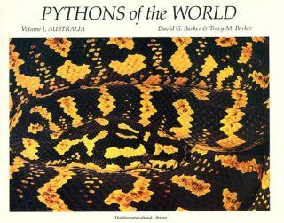 Pythons of the world, Volume one: Australia. David G. Barker, Tracy M. Barker.