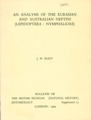 An analysis of the Eurasian and Australian Neptini (Lepidoptera: Nymphalidae). John Nevill Eliot