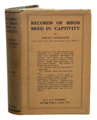 Records of birds bred in captivity. Emilius Hopkinson.