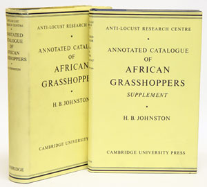 Annotated catalogue of African grasshoppers, with Supplement. H. B. Johnston.