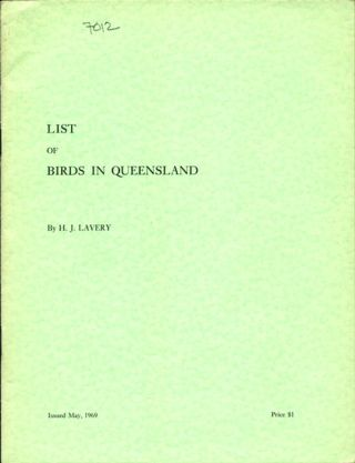 List of birds in Queensland. H. J. Lavery