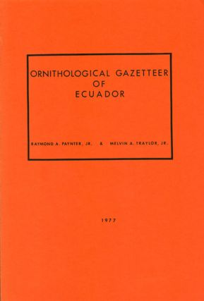 Ornithological gazetteer of Ecuador