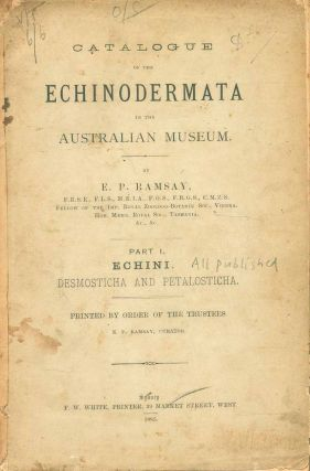 Catalogue of the Echinodermata in the Australian Museum, part one: Echini. Desmosticha and...