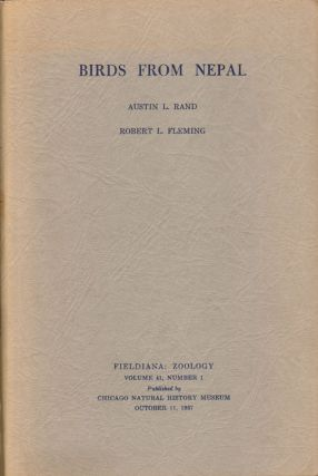 Birds from Nepal. Austin L. Rand, Robert L. Fleming