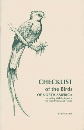 Checklist of the birds of North America: including middle America, the West Indies, and Hawaii