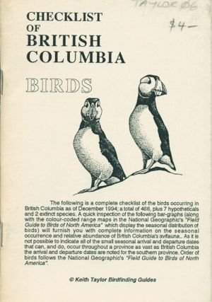 Checklist of British Columbia birds