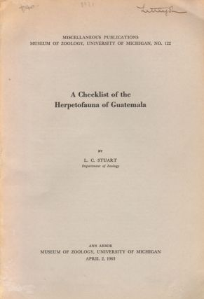 A checklist of the herpetofauna of Guatemala. L. C. Stuart.