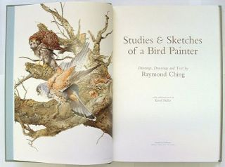 Studies and sketches of a bird painter.