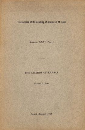 The lizards of Kansas. Charles E. Burt.